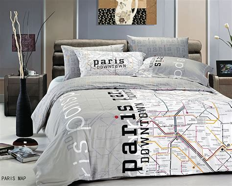theme bed paris eiffel tower themed bedding for less