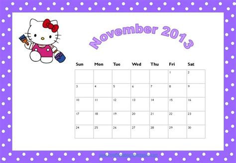 printable calendar 2015 hello kitty 7 best images of hello kitty 2015 calendar printable