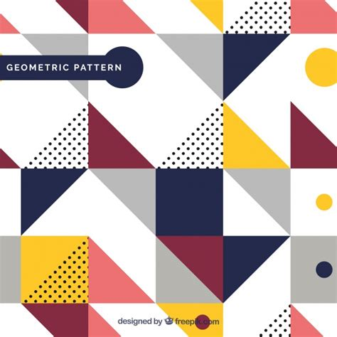 design pattern graphic editor pattern of geometric colored shapes vector free download
