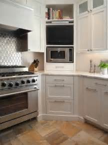 Kitchen Microwave Cabinets Five Inc Countertops 5 Ways To Make Practical Use Of A Corner Kitchen Cabinet