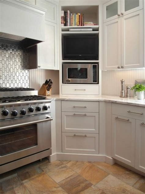 microwave in kitchen cabinet five star stone inc countertops 5 ways to make practical