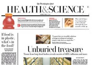 health and science section newspaper in education