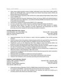Us Army Resume by Instructor Exemple De Cv Sle Army Resume Cover Letter Army Resume Template Us