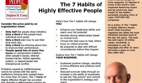 The 7 Habits Of Highly Effective By Stephen Rcovey 17 best images about stephen covey on habit 1