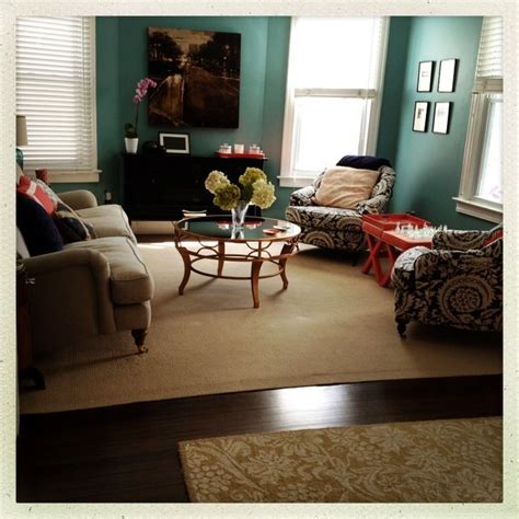 teal navy coral living room living rooms