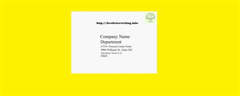Business Letter Envelope Business Letter Exle