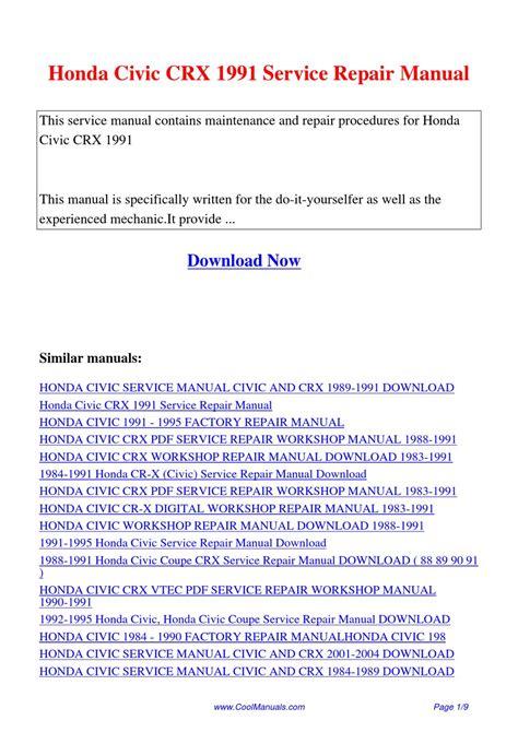 manual repair autos 1988 honda civic head up display honda civic crx 1991 service repair manual by lan huang issuu