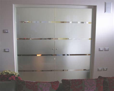 vetro doppia porta tuttovetro scorrevole doppia realizzazione