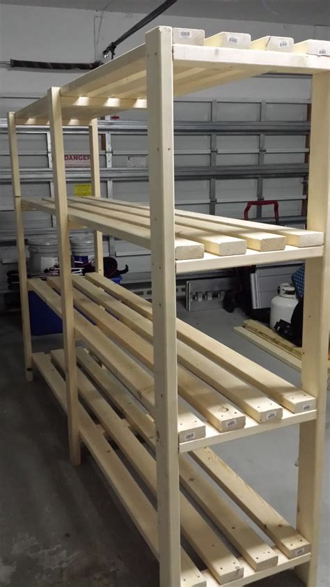 Shelf Racks Garage by White Great Plan For Garage Shelf Diy Projects