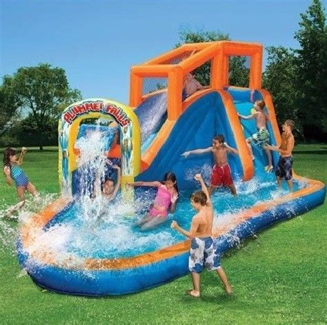 water slides backyard water slides pool back yard waterslide