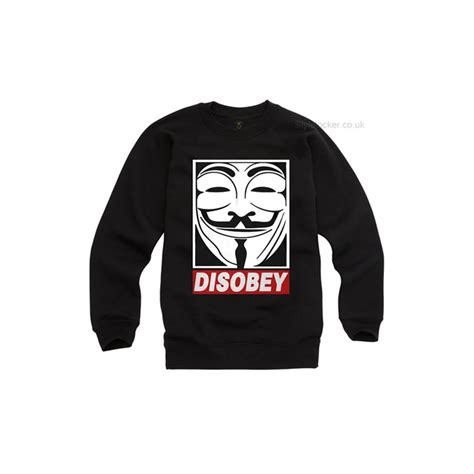 Hoodie Sweater Anonymous disobey anonymous fawkes sweatshirt