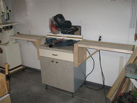 Miter Saw Cabinet by Another Miter Saw Cabinet By Johnzo Lumberjocks
