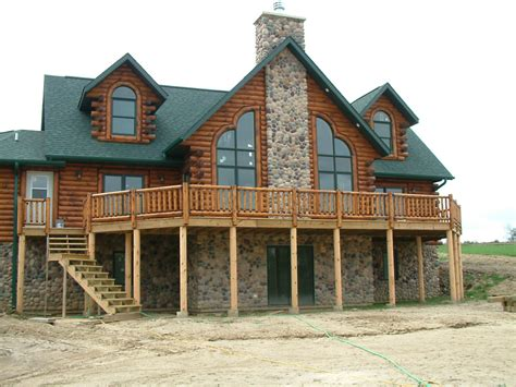 custom built log homes home