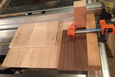 table saw bevel cut making a jig for cutting miters and bevels