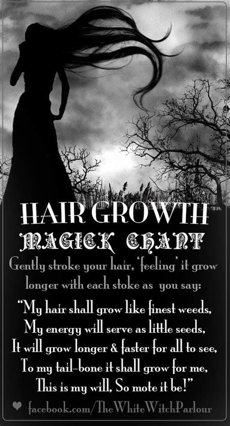 Hair Growth Magick Chant (Printable Spell Page) – Witches