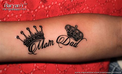 mom and dad tattoo great concept dedicated to