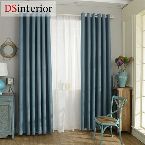 types of curtains for living room dsinterior modern style solid color faux plain linen