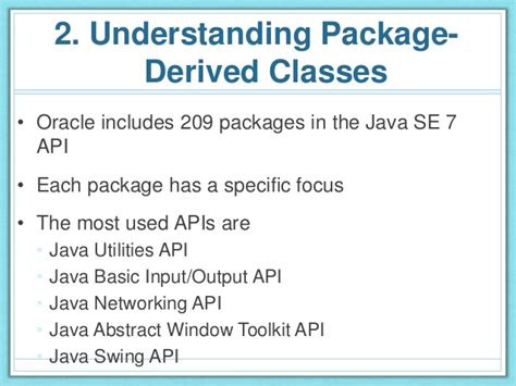 java swing api oca java 1 packages and class structure