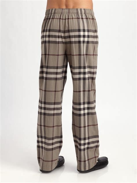 Burberry Pajamas 2 Set burberry flannel pajamas in brown for lyst