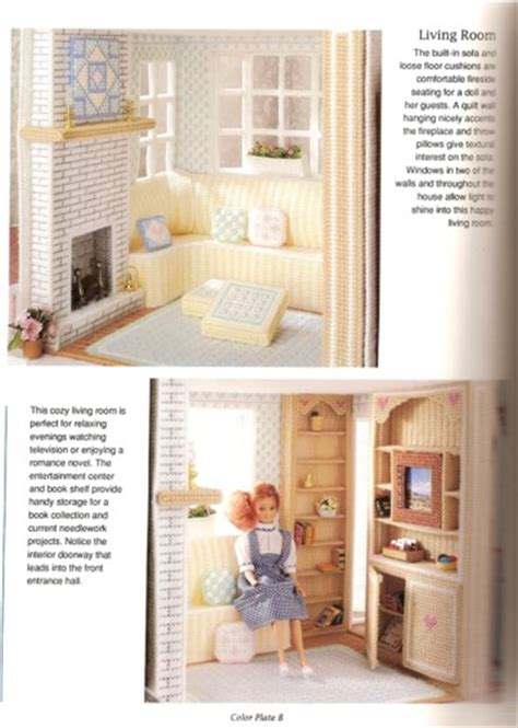 plastic canvas doll house living room corners collectible dolls and google on pinterest