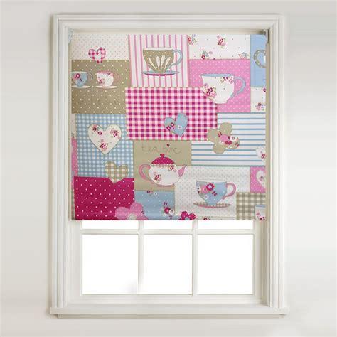 pink patterned roman blind bright coloured roller blinds retro blinds uk horizontal