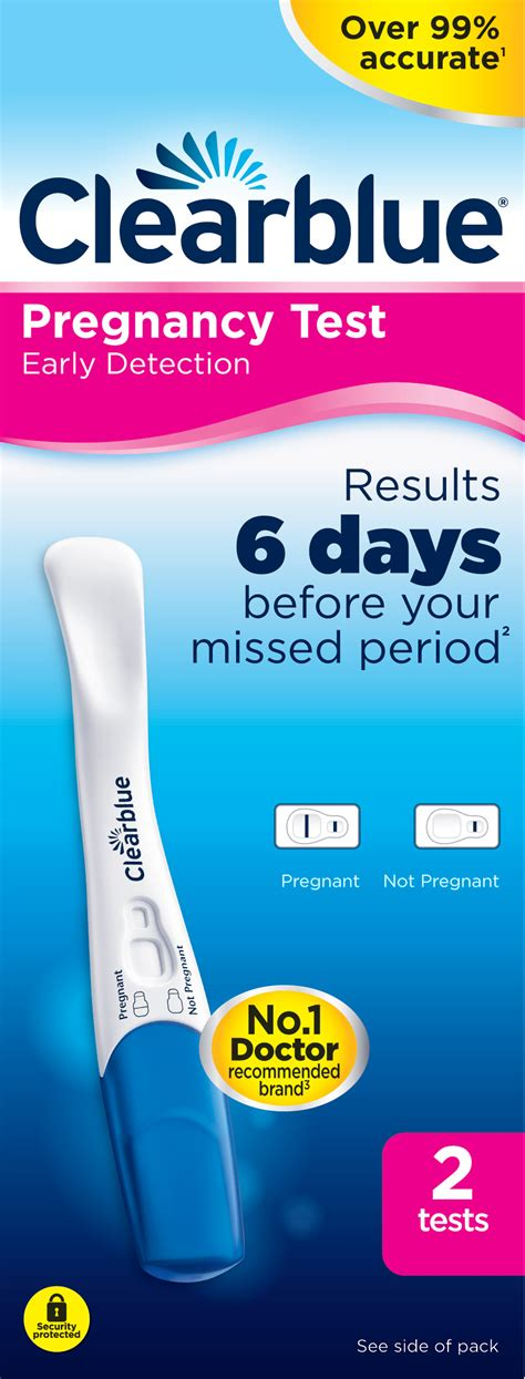 Test Pack Pregnancy 2 x clearblue early detection pregnancy test pack home