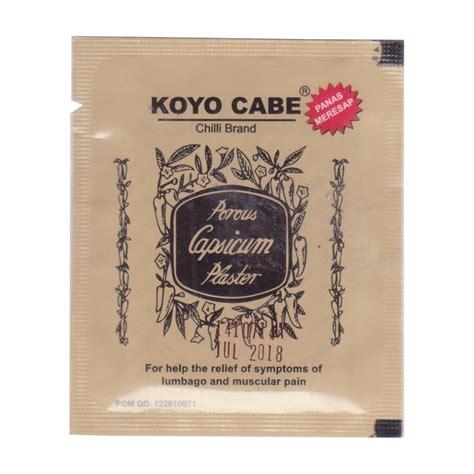 Koyo Cabe Pak By Cngshop koyo cabe chilli brand porous capsicum plaster standard size