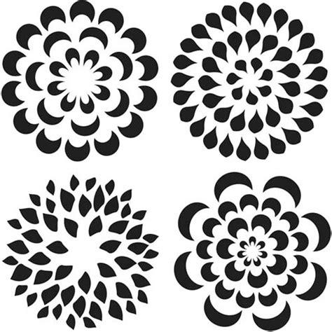 glass stencil petal 15cm x 15cm