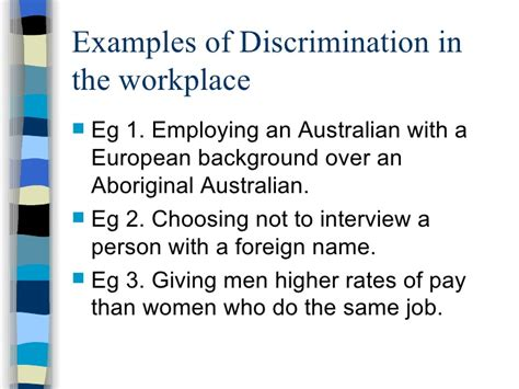 exles of discrimination in the workplace agranihomesrealconstruction co