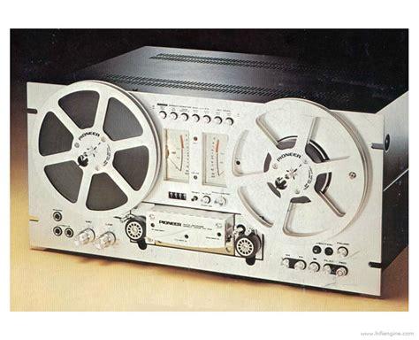 pioneer rt  manual reel  reel tape recorder