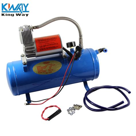 Selang Pompa Air Dc 12 Volt free shipping king way 150psi dc 12v air compressor with 6