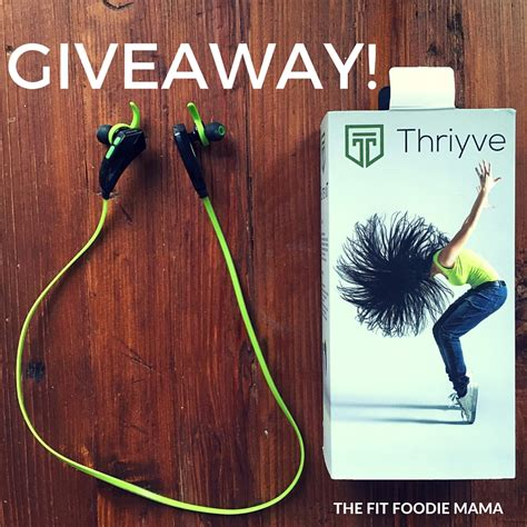 Earbuds Giveaway - benefits of running with music thriyve bluetooth sports