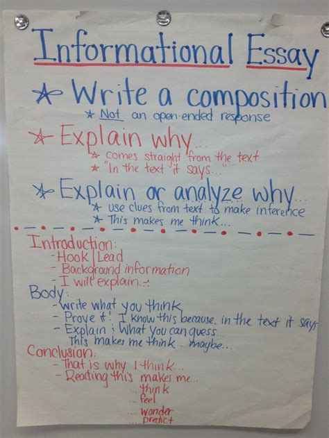 Informational Essay by Informational Essay 4th Grade Ela Anchor Charts The Winter The O Jays And I Will
