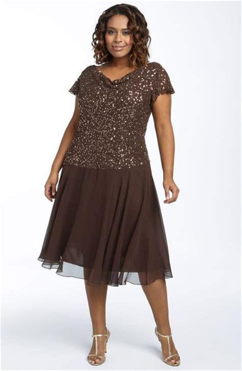 j kara beaded mock top gown j kara beaded mock two dress in brown chocolate