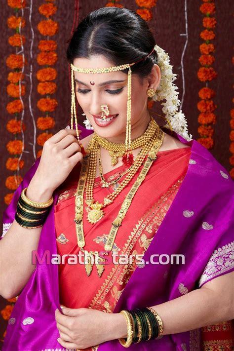hairstyles in nauvari saree marathi bride in nauvari saree nauvari pinterest
