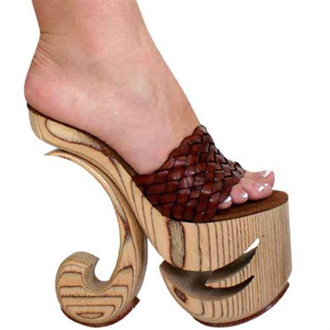 wood high heels karo 0499 wood carved high heel