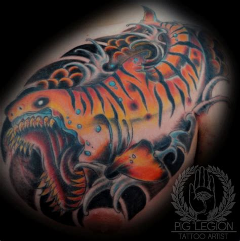 tiger shark tattoo tiger shark tattoos askideas