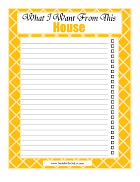 house checklist before buying house checklist