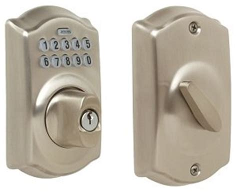 Schlage Door Keypad Change Code by Schlage Be365 619 Camelot Keypad Deadbolt Satin Nickel