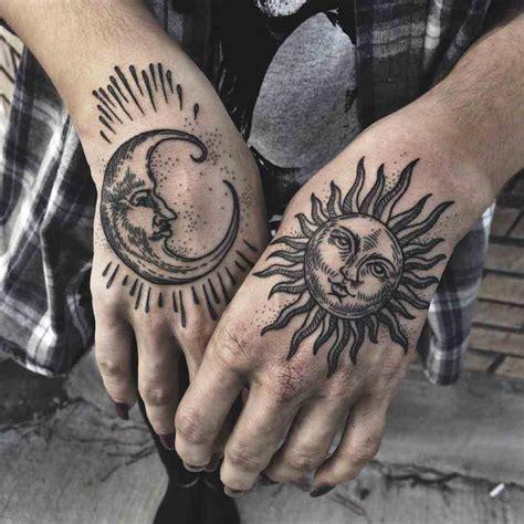 finger tattoo moon and sun sun moon tattoo best tattoo ideas gallery