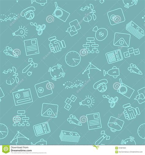 seamless pattern app thin line icons seamless pattern stock vector