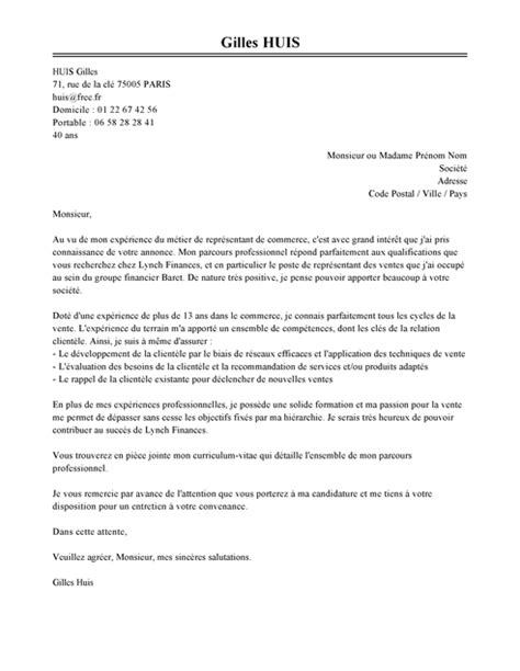 Lettre De Motivation Serveur Barman Debutant Lettre De Motivation Repr 233 Sentant De Commerce Exemple
