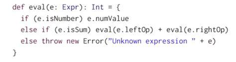 scala mooc i lec4 types and pattern matching scala mooc i lec4 types and pattern matching 为程序员服务