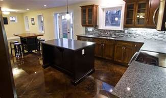 Concrete Kitchen Floor Stained Concrete Floors Traditional Kitchen Other By Millroi Construction Services