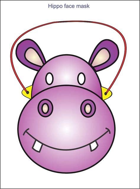 printable hippo mask hippo face mask
