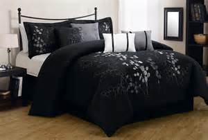 Black and silver comforter sets queen