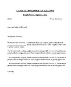 Letter Of Appreciation For Donation sle donation letter 10 exles in word pdf