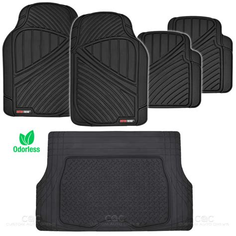 rubber sting mat black flextough all weather rubber mats package 5pc car