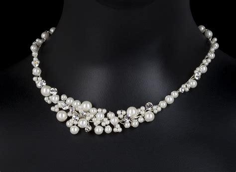 Perlenkette Hochzeit by Perlenkette Colliers Colliers Perlen