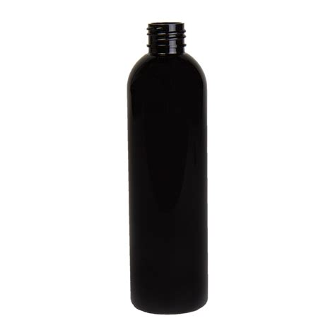 cosmopolitan bottle 8 oz black pet cosmo round bottle with 24 410 neck cap